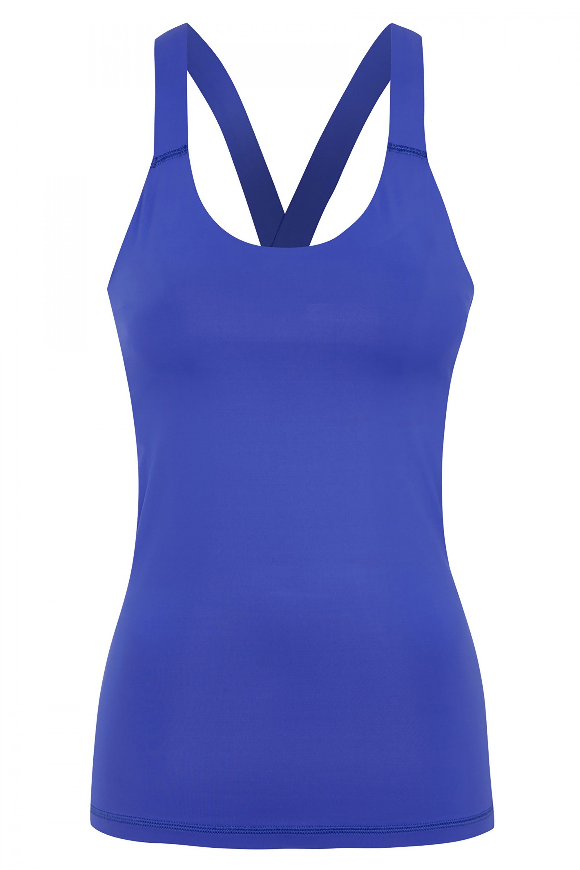 Ivy Park V Back Vest in Cobalt, $55