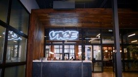 Inside Vice Canada's new Liberty Village office, with a well-stocked bar and free movies