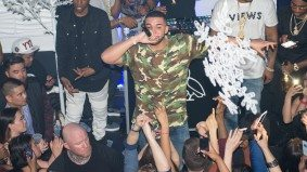 Drake hugged Justin Bieber at the official <em>Views</em> launch party