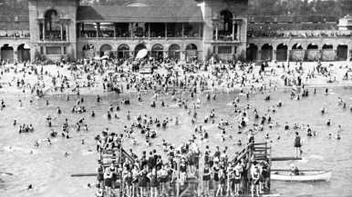 The city's most picturesque beach, Sunnyside Pavilion, is back in action this summer