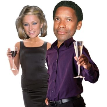 Paris Hilton and Denzel Washington