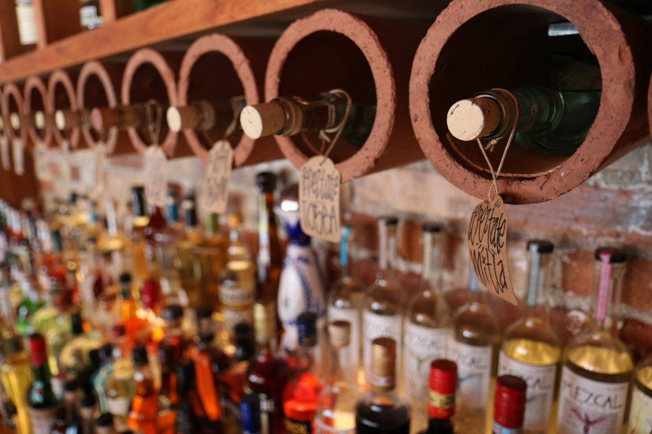 toronto-restaurants-bars-el-rey-mezcal-bar-grant-van-gameren-kensington-market-bottles