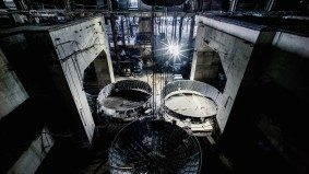 Here's how Luminato mounted a stunning eight-metre mirror ball inside an abandoned power plant
