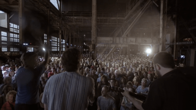 """Watch Rufus Wainwright and a 1,500-voice choir sing """"Hallelujah"""" in an abandoned power plant"""