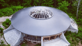 The story behind Caledon's massive new UFO-shaped house