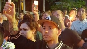 Pictures from last night's Orlando vigil on Church Street