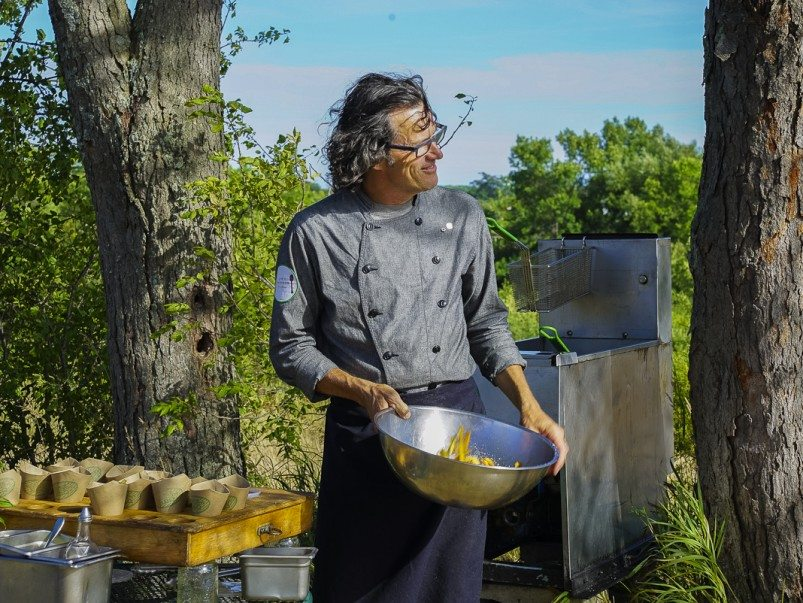 Here's what dinner looks like at chef Jamie Kennedy's Prince Edward County farm
