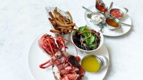 "What's on the menu at Lbs (that's ""pounds""), a lobster, burger and salad restaurant"