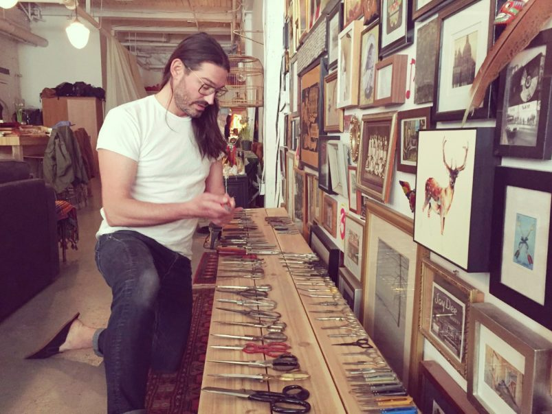 Meet the Parkdale knife collector who keeps more than 60 pairs on display in his living room