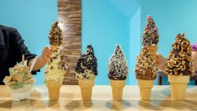 New dessert parlour coats ice cream in 24 different flavours of chocolate