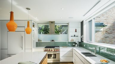How a bunker-like house in Riverdale became a sun-soaked home with a seriously cool kitchen