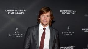 Mark Wahlberg played hard to get at the Deepwater Horizon after-party