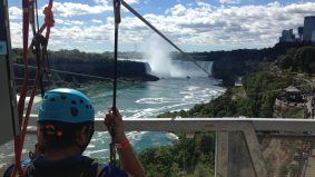 Here's what it's like to zipline at (but not over) Niagara Falls