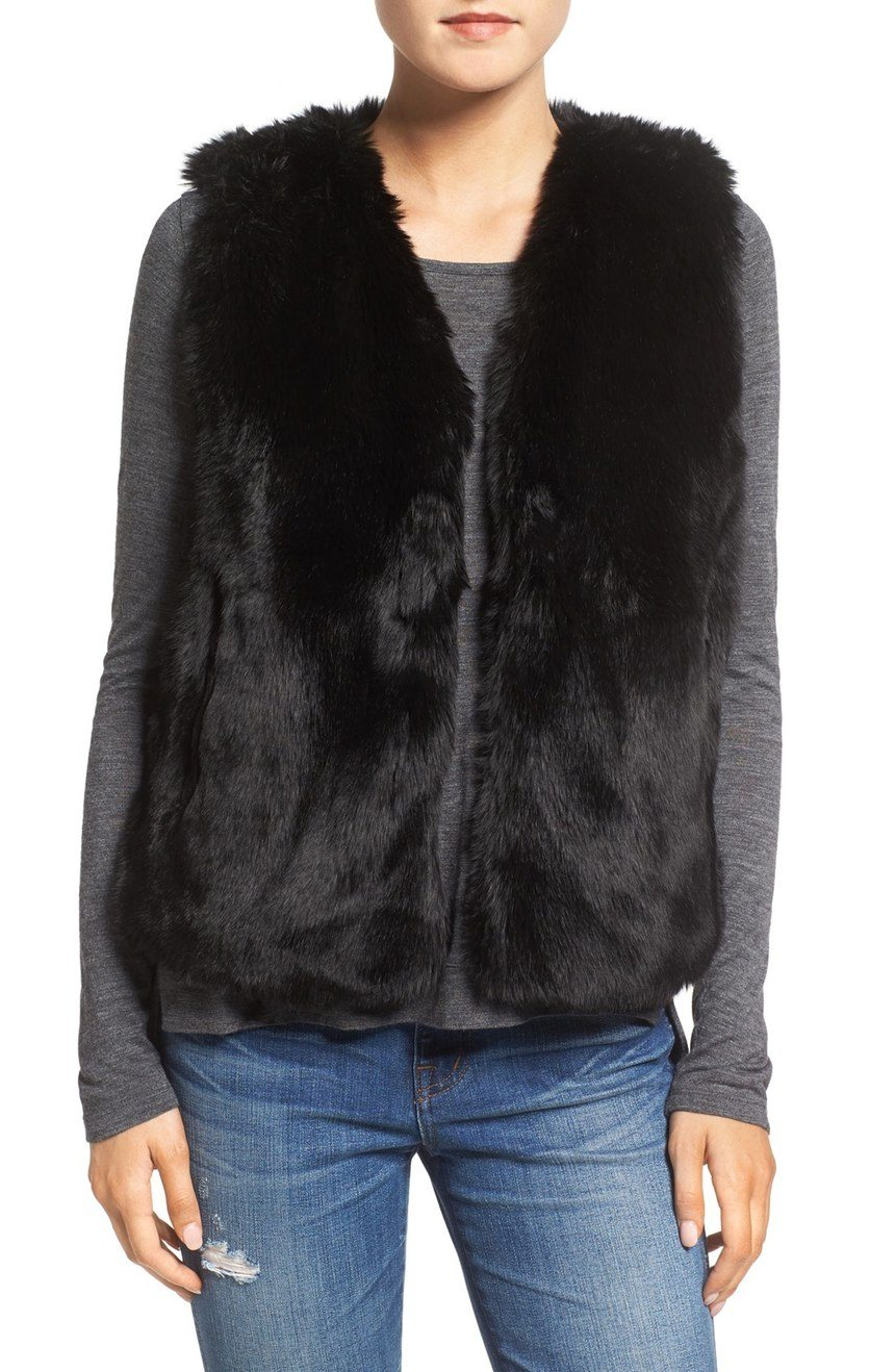Madewell Faux Fur Vest $173 CAD at Nordstrom