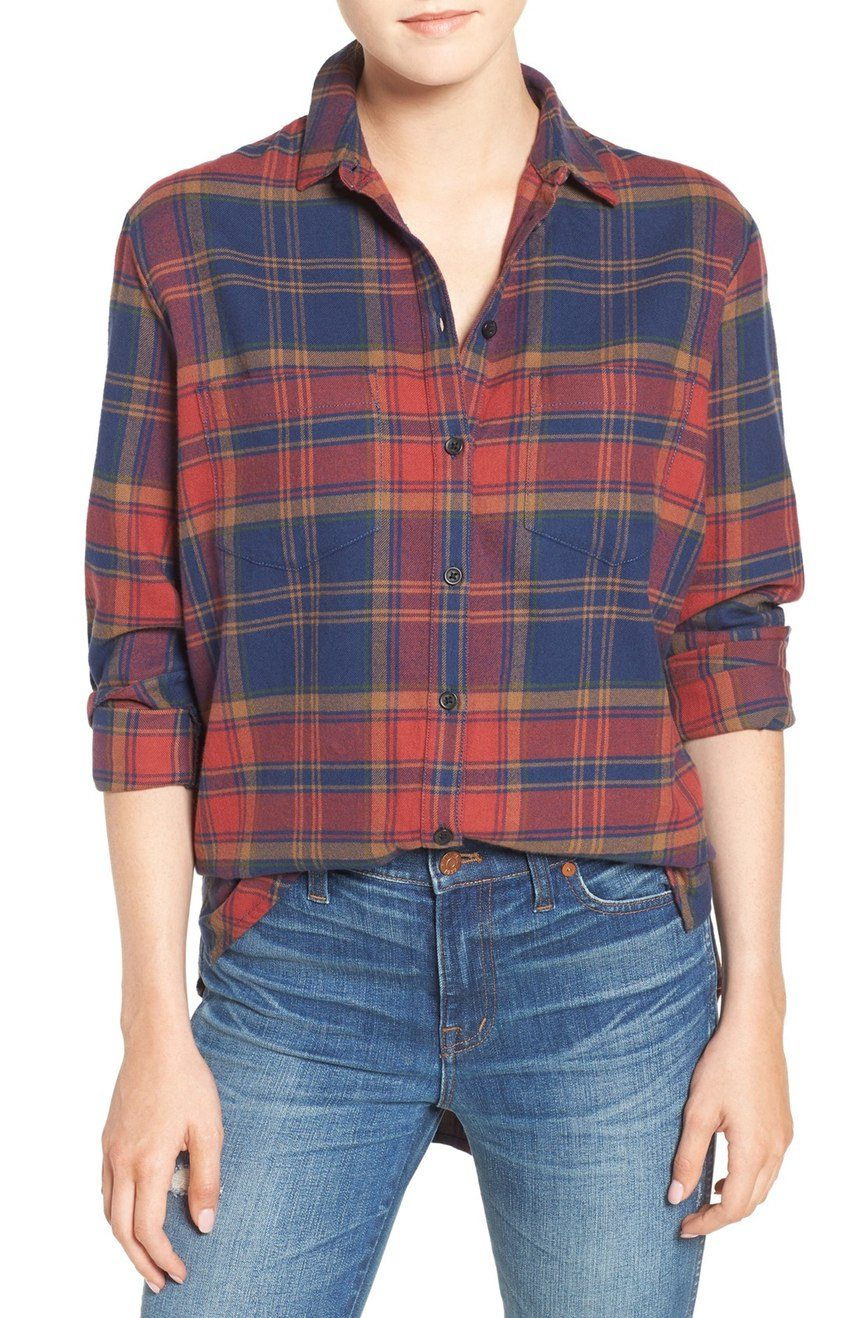 Madewell Shrunken Flannel Boyfriend Shirt $107 CAD at Nordstrom