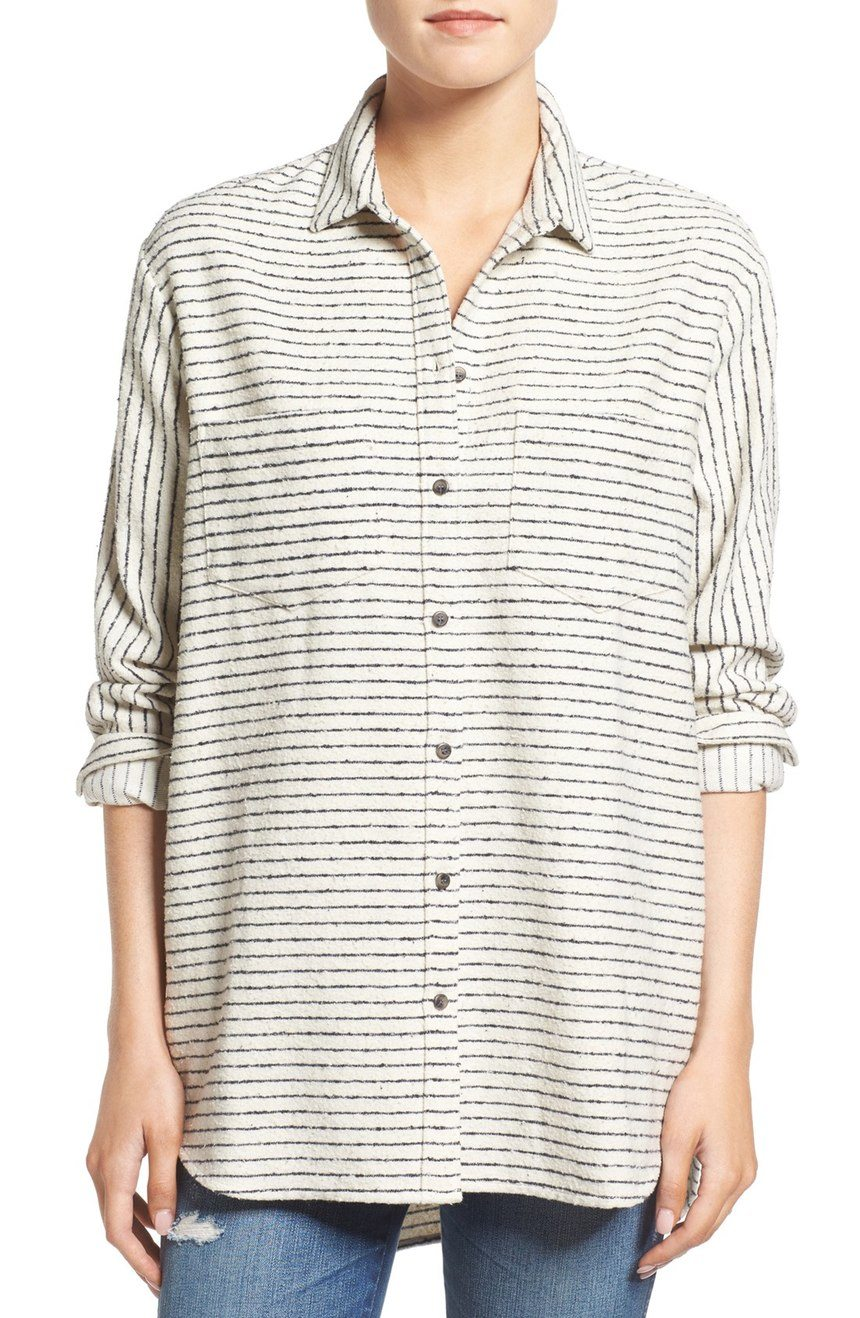 Madewell Sunday Strip Flannel Shirt $119 CAD at Nordstrom