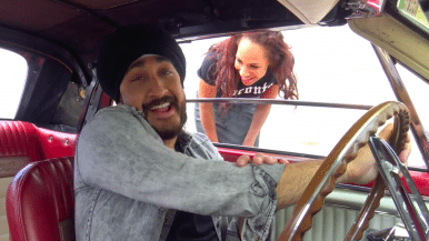 Watch Jus Reign and actress Amanda Brugel drive around Toronto