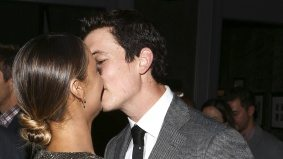 Miles Teller engaged in some PDA at Storys' <em>Bleed for This</em> premiere party