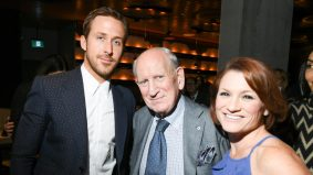 Ryan Gosling hung out with Harry Rosen at the premiere party for <em>La La Land</em>