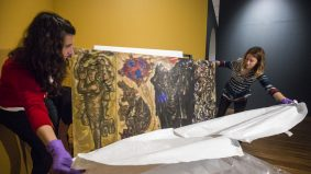 This 12-foot-tall Syrian mural travelled 10,000 kilometres to get to the Aga Khan Museum