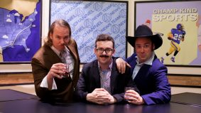 I spent election night dressed like Ron Burgundy at an <em>Anchorman</em>-themed theatre party