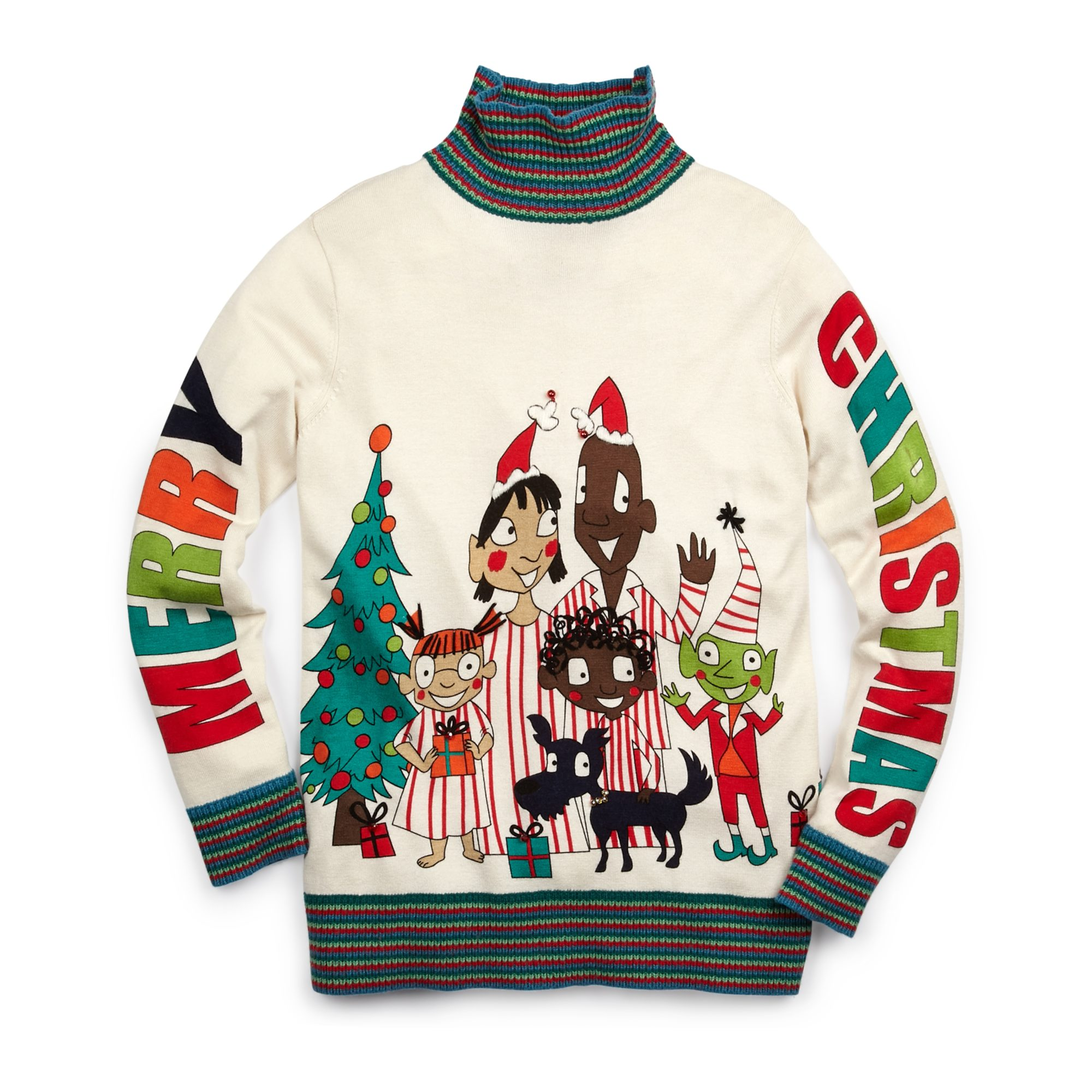 WHOOPI GOLDBERG Alien Family Holiday Sweater, $179 CAD