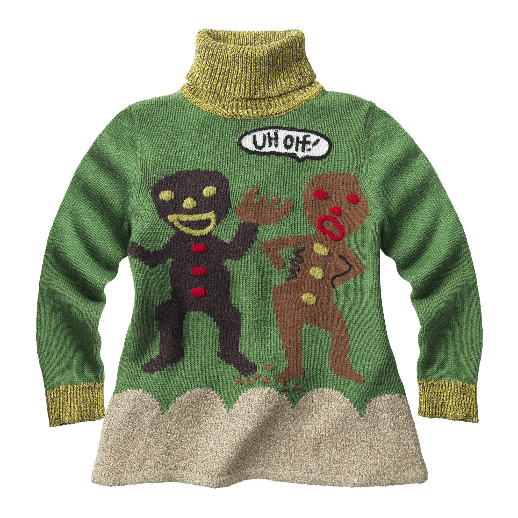 WHOOPI GOLDBERG Gingerbread Turtleneck Sweater