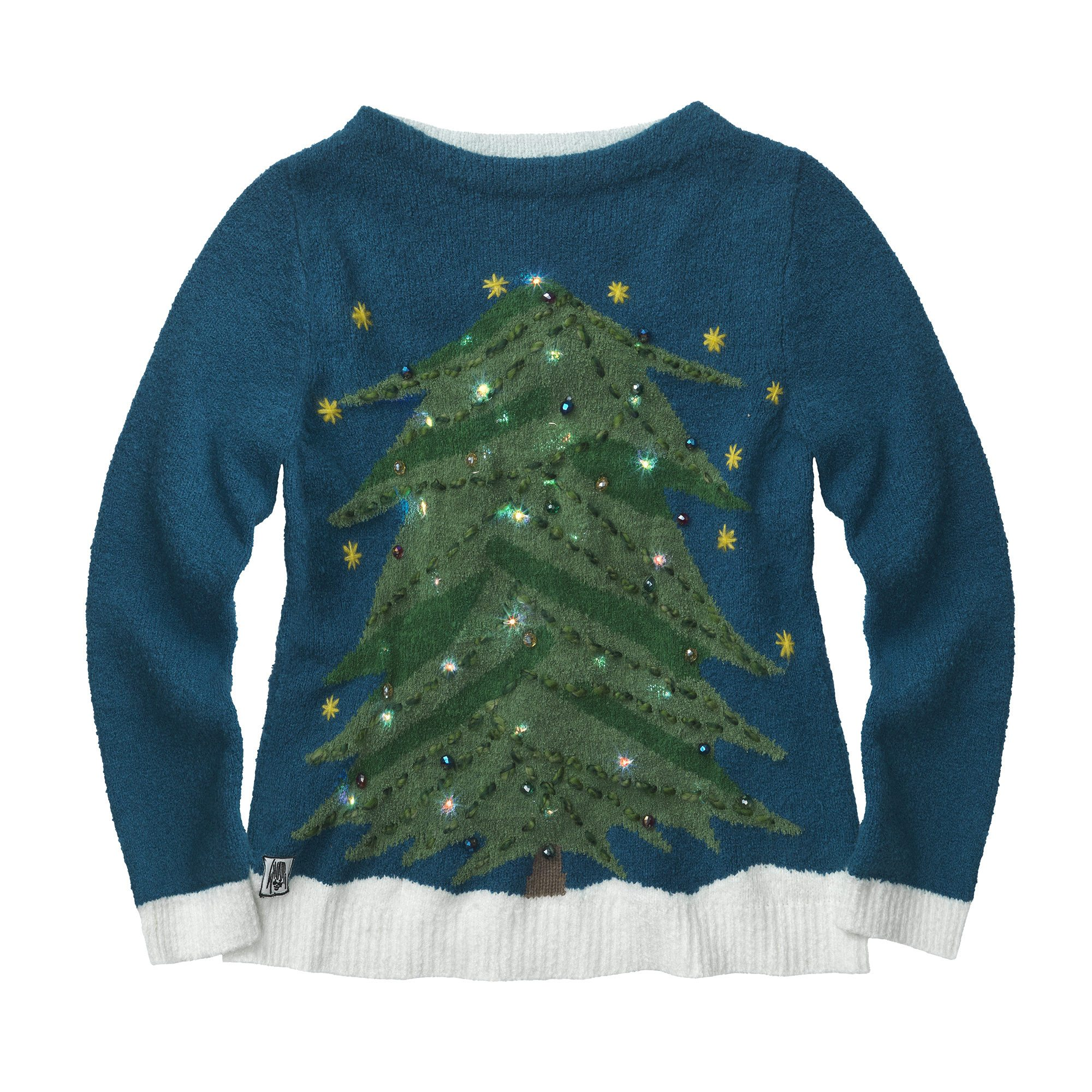 WHOOPI GOLDBERG Light Up Christmas Tree Sweater, $179