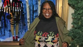 Whoopi Goldberg designed some very peculiar holiday sweaters, which you can now buy at Hudson's Bay