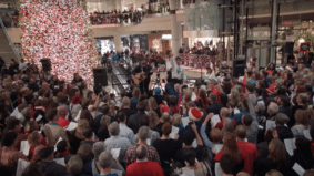 """Watch a 2,000-voice choir sing """"What a Wonderful World"""" in the Eaton Centre"""