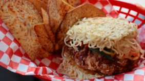 What's on the menu at Kaboom Chicken, including Toronto's first ramen burger