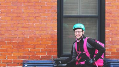 Five UberEats and Foodora bike couriers on what it's like to cycle with your food delivery