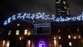 A look at the lasers, neon and light art installations that are taking over the Distillery District right now