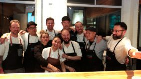 Here's what it looks like when 10 top chefs work together for a one-night-only dinner service