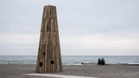Have a look at cool, quirky art installations lining Toronto's beaches this winter