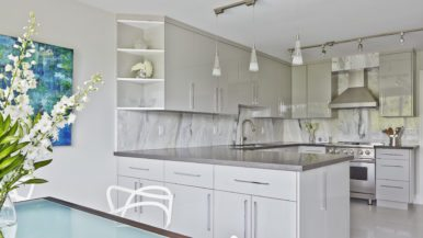 How a designer gave a pair of empty nesters a slick, contemporary condo kitchen in Forest Hill