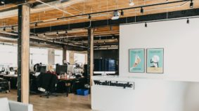 Inside Wealthsimple's new office, with a cozy library, sushi boats and free popsicles
