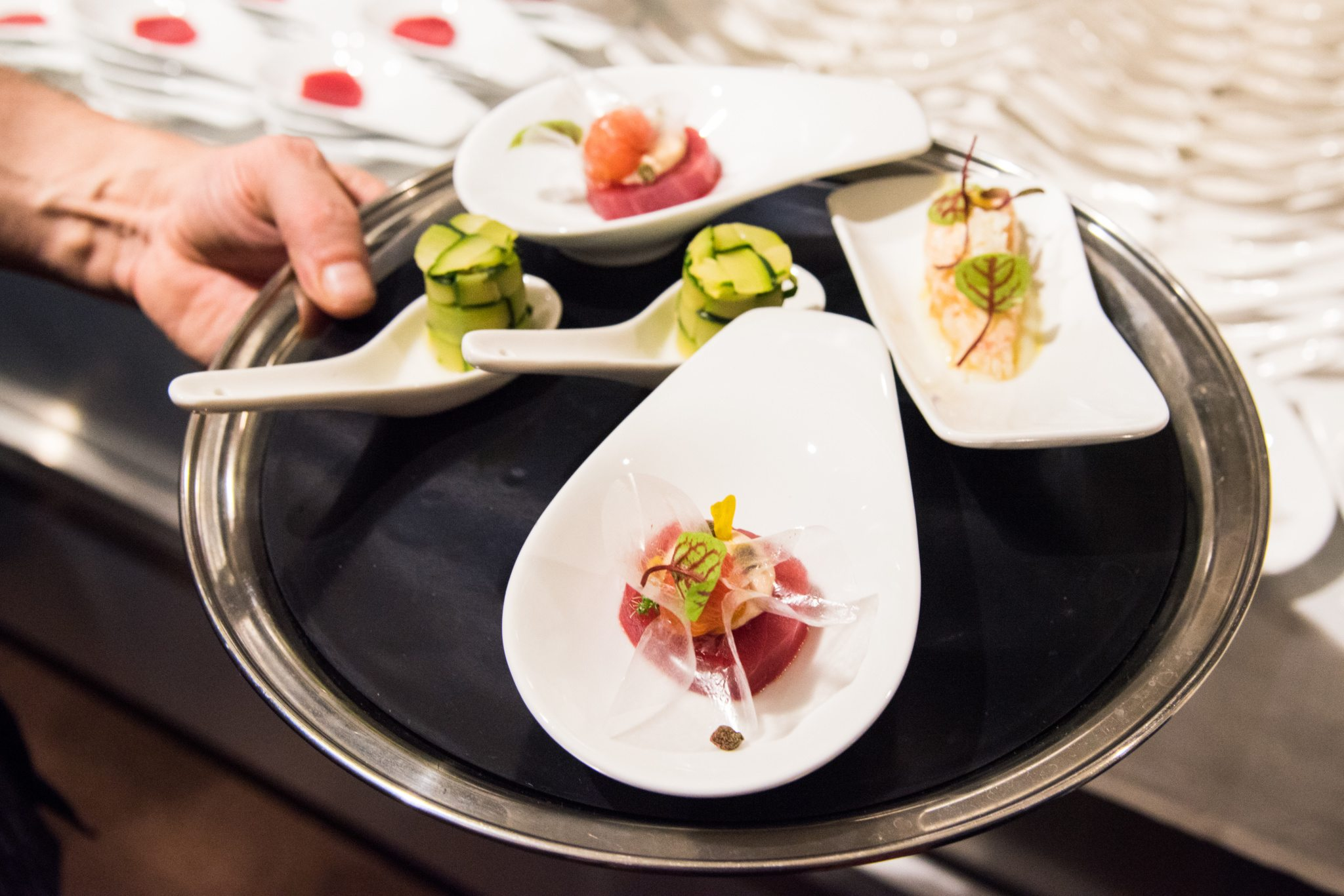 toronto-restaurants-events-sotto-sotto-italian-nino-di-costanzo-snacks-tuna-zucchini-prawn