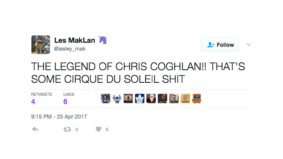 What fans were saying about Chris Coghlan's amazing home plate somersault