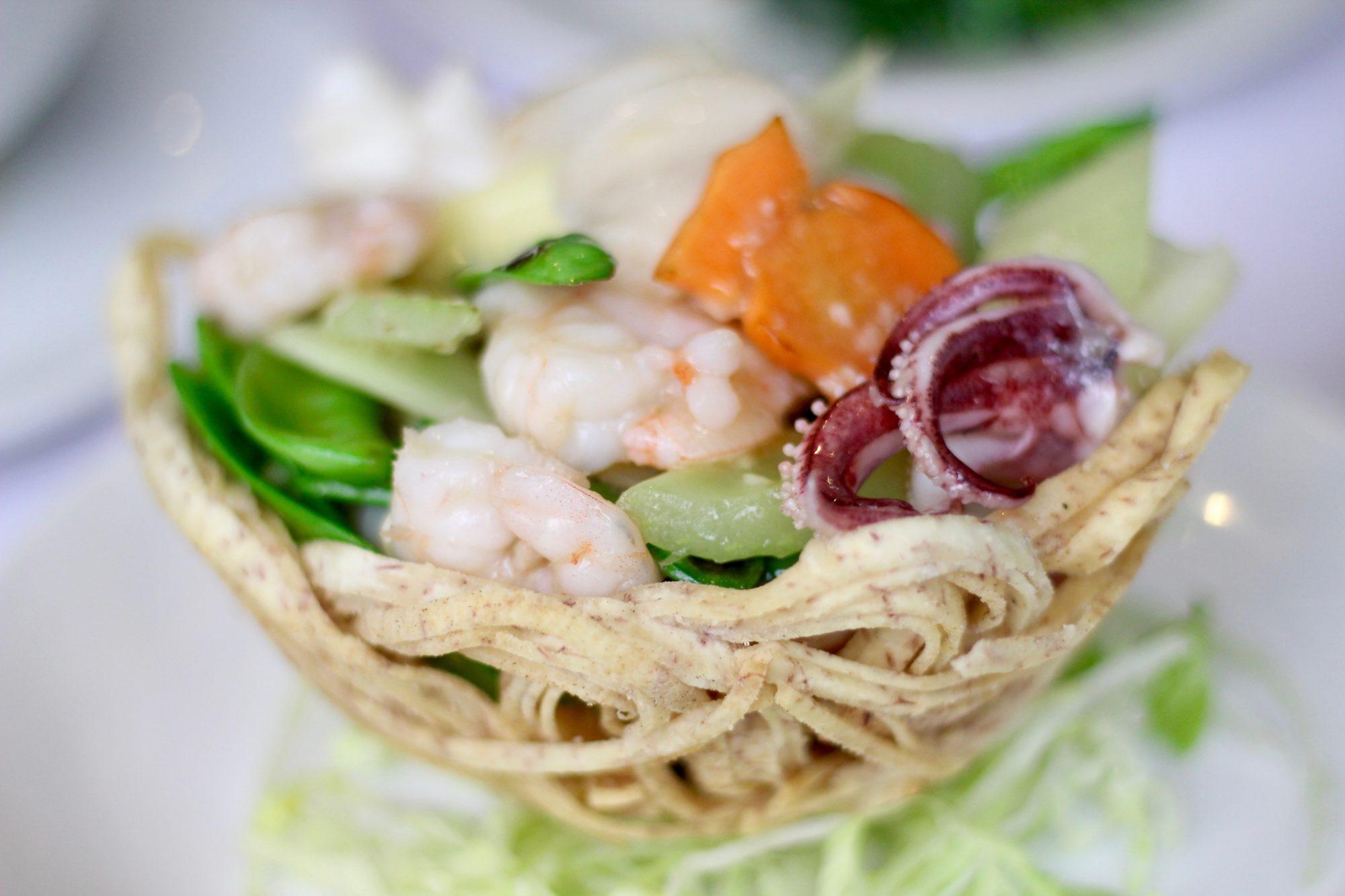 seafood bird's nest
