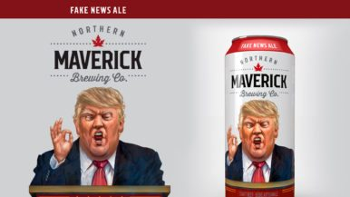 A scowling Donald Trump is the look we're going to use for our debut beer, a Toronto brewery decides