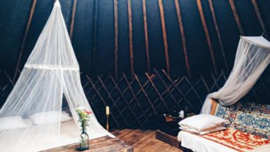 See inside Buffalo Farm, a glamping retreat where you can stay in a yurt
