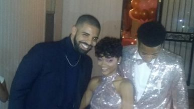 Drake went to his cousin's high school prom, and there are photos to prove it