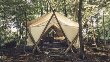 A look inside Fronterra, Prince Edward County's history-themed glamping retreat