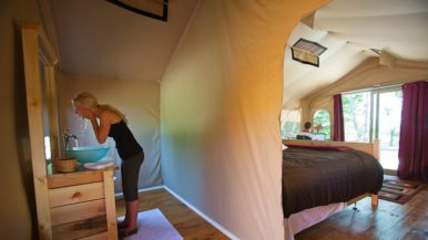 "See inside a Norfolk County glamping retreat where guests stay in ""camping pods"""