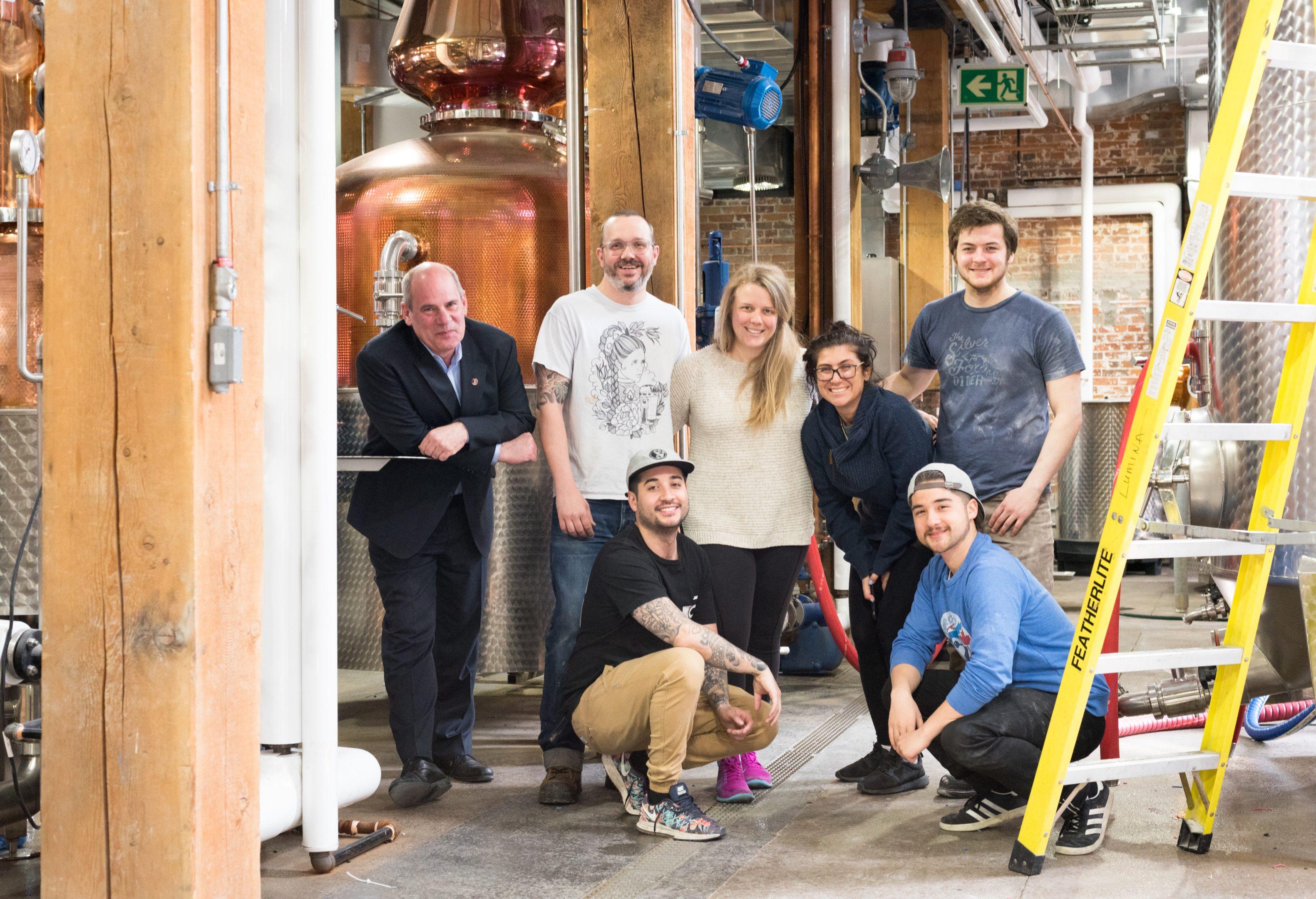 toronto-bars-spirit-of-york-distillery-co-distillery-district-team