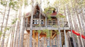 A look inside a designer treehouse getaway in Durham