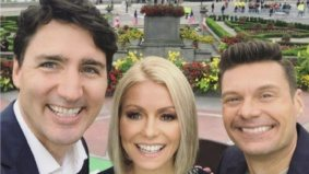 A bunch of times Justin Trudeau hung out with celebrities