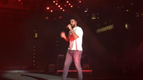 Here's a pretty good video of Drake's surprise performance at Nathan Phillips Square