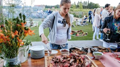 Here's what dinner looks like at The New Farm, a 100-acre organic farm in Creemore